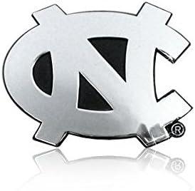Chrome Metal WinCraft NCAA North Carolina UNC Tar Heels Premium Auto Emblem