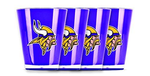 (NFL Minnesota Vikings Insulated Acrylic Shot Glass Set of 4)