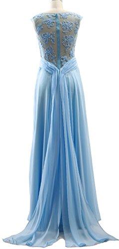 Prom Cap Elegant Evening Chiffon Long Dress MACloth Zartrosa Lace Gown Formal Sleeves w5IxdBAB