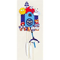 One Day Movement Kids Cuckoo Clock - Light House Theme 10 Inch