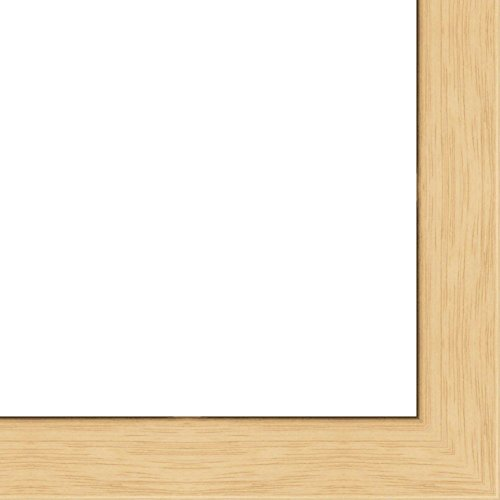 17x22 - 17 x 22 Natural Oak Flat Solid Wood Frame with UV Framer's Acrylic & Foam Board Backing - Great For a Photo, Poster, Painting, Document, or Mirror ()