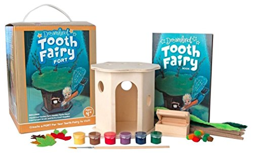 Dreamland Fairy Tooth Fort: Help Your Tooth Fairy Find Your Tooth! - Paint Craft Kit with Storybook