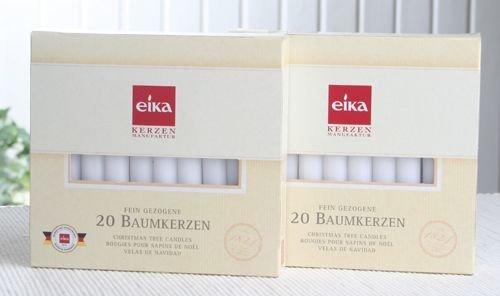 SET: 40 Eika-Baumkerzen (2x 20er-Pack), Weiß