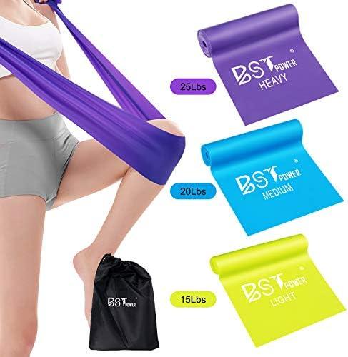Bst Power 5 Ft Resistance Bands Set,Professional Latex Elastic Exercise Bands Al