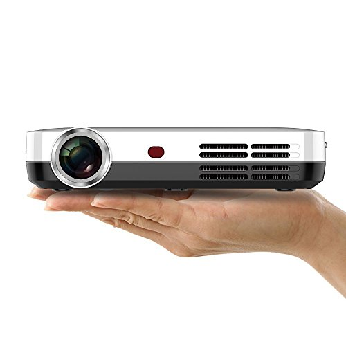 Wowoto dlp led video projector 1280x800 hd support 1080p for Bluetooth micro projector