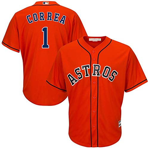 VF LSG #1 Carlos Correa Houston Astros Cool Base Player Jersey - Orange ()