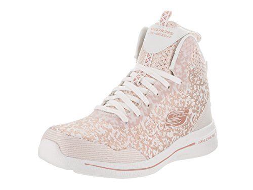 Skechers Damen Burst 2.0 - Fashion Forward Freizeitschuh Weiß / Pink