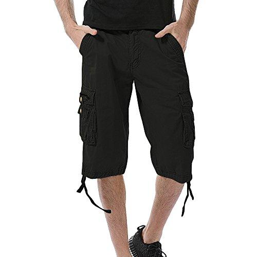 - Mens Premium Cargo Shorts Outdoor Twill Cotton Loose Fit Multi Poshortset Pants