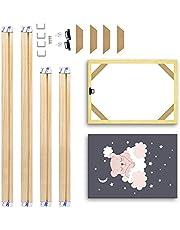 Kader Massief hout fotolijst Merk DIY Maten Poster en Fotolijst Simplicity Canvas Diamant Schilderij Wall Art Fit voor Home Decor Geschenken Foto decoratie (Color : Width 35cm, Size : Height 45cm)