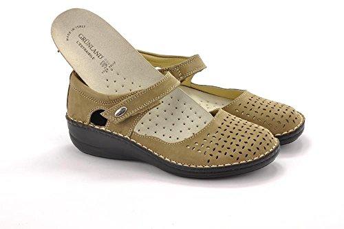 de desgarramiento mujer correa SC1400 Grünland bailarina topo de zapatos de la Beige INES color comodidad UpPwZ