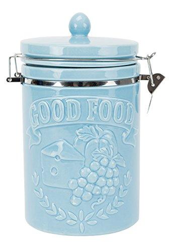 Boston Warehouse 97828 Good Food Hinged Jar Small Turquoise ()