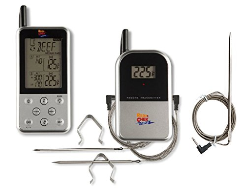 - Maverick ET-733 Wireless BBQ Meat Thermometer - Silver - Includes Extra 6 Foot Probe
