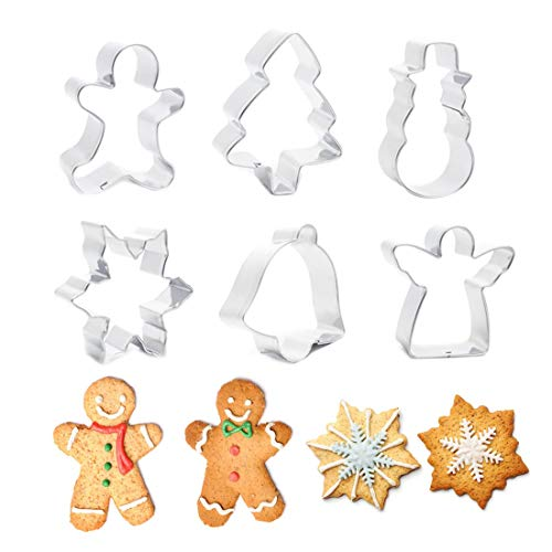 Amazon.com: Moldes De Galletas - Diy 1 Set Stainless Steel Christmas Cookie Cutter Tree Snowflakes Shape Cake Mold Moldes De - Cake Galletas Baby Mouse ...