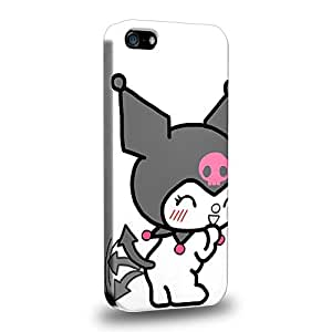Case88 Premium Designs My Melody & Kuromi Collection 0649 Protective Snap-on Hard Back Case Cover for Apple iPhone 5 5s