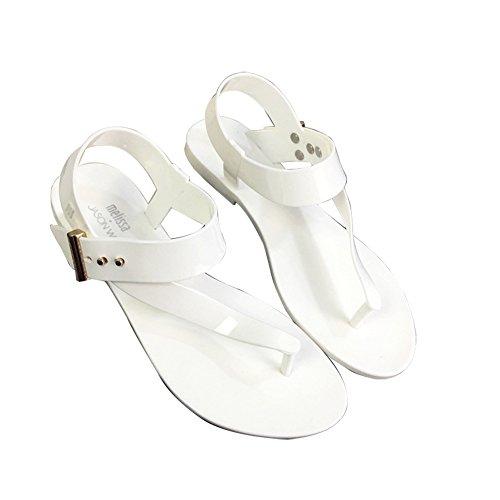 St.Roma - Sandalias de vestir de pvc para mujer blanco