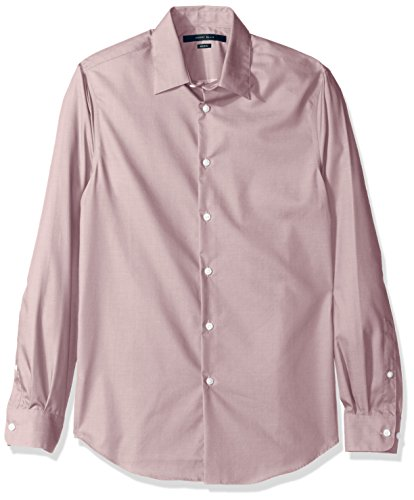 Perry Ellis Men's Travel Luxe Solid Non-Iron Twill Shirt, Antler-4CFW4000, Large