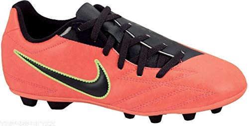 low priced 7e9e3 aaab9 Nike Kids Jr T90 EXACTO IV FG-R Soccer Cleats - Red Black (1)