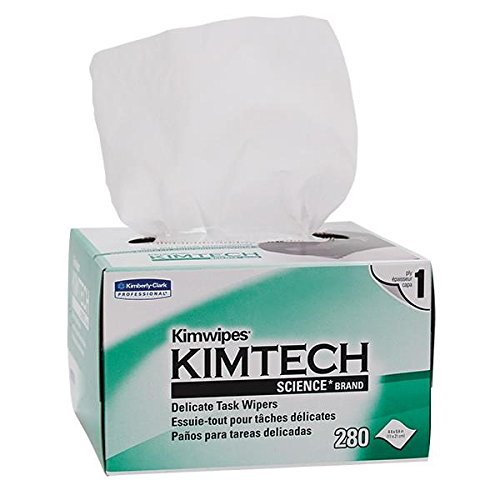 Kimtech Science Kimwipes Wipers, 1-Ply, 4 3/8'' x 8 3/8'', (60 Boxes of 280)