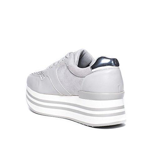 Ideal Gris Baskets Shoes Matière à Adrienne Plateforme bi rTr0w5q