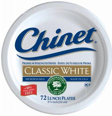 Chinet Premium 8 3/4-Inch Paper Plates