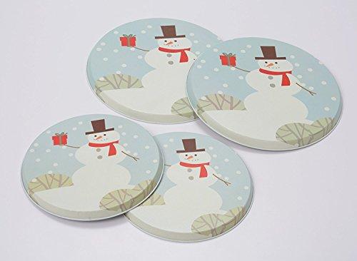 Range Kleen Snowman Burner Cover, Set of 4 (Christmas Stove Burner Covers)