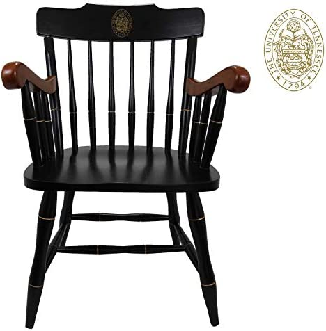 Tennessee Volunteers Captain's Office Desk Chair, Black Crown with Cherry Arms