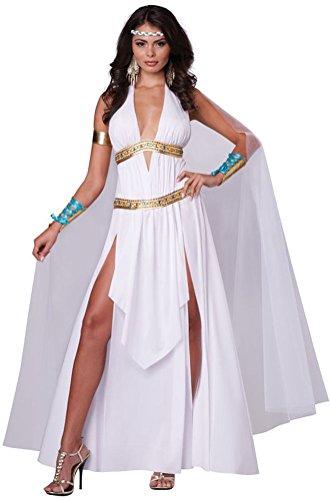 [POPLife Glorious Goddess Toga Greek Roman Adult Women Costume] (Roman Goddess Accessories)