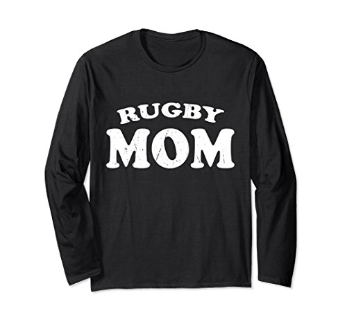Unisex Rugby Mom High School Team Sport Mother T Shirt Cute Gift XL: Black (Shirt Rugby School)