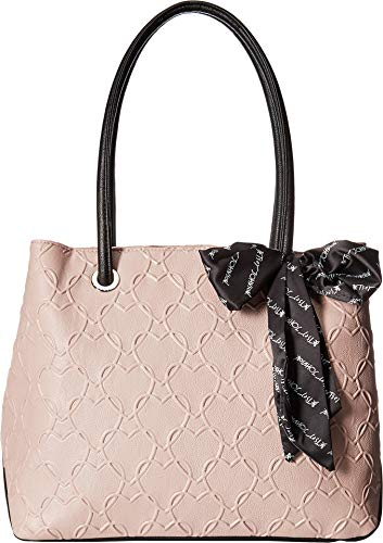 Betsey Johnson Women's Heart Tote with Scarf Blush One ()