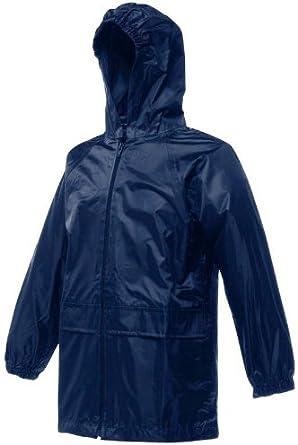 Regatta Kids Stormbreak Waterproof Jacket Taped Seams Coat Black