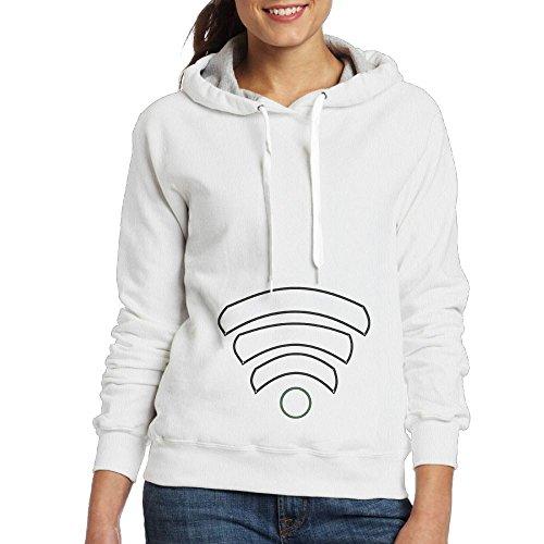 (Jacqeline Wi Fi Charged Cotton Womans Hoodies Sweatshirt White)