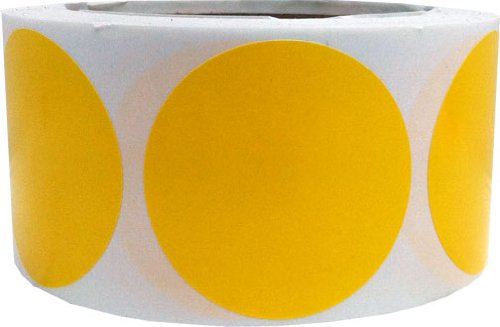 Amazon com yellow color coding labels round circle dots 2 inch 500 total adhesive stickers office products
