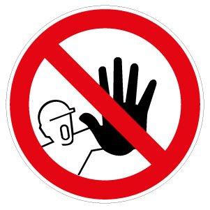 Zutritt f/ür Unbefugte verboten! 10 cm Aufkleber Vinylfolie Stop