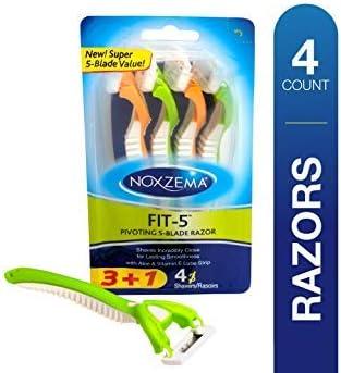 Noxzema Fit 5 Cuchillas de afeitar giratorias, 4 unidades; las ...