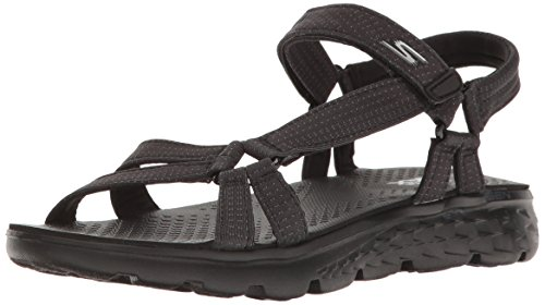 Skechers Performance Women's On The Go 400 Radiance Flip Flop,Black,7 M US by Skechers