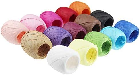 Gut bekannt Bast Papierband Bindfäden 15 Rollen 15 Farben Set für DIY Basteln LA11