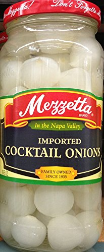 Mezzetta Imported Cocktail Onions 16 Ounce (Pack of 2) (Onions Jar)