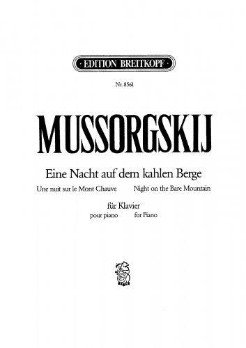 Night on Bald Mountain - Revision by Rimsky-Korsakov (1886) For Piano solo (Chernov) - Score (Night On Bald Mountain Piano Sheet Music)