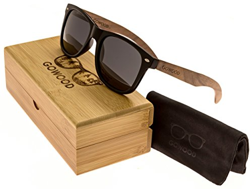 Walnut Wood Wayfarer Sunglasses For Men & Women with Polarized Lenses with Wood Box - What Sunglasses Is Wayfarer