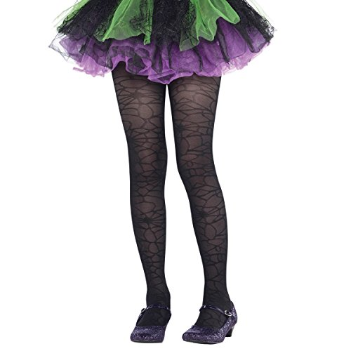 amscan Costume AccessoryBlack Spider Web Tights -