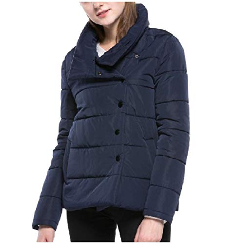 Fall Womens Down Thick Casual Coat Winter Slim blue Navy Jacket Mogogo Fitted dqnEApZd