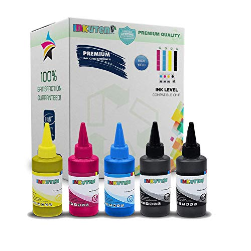 500ml 5 X 100ml Refill Ink for PGI-280 CLI-281 CISS CIS PIXMA PIXMA TR7520 TR8520 TS6120 TS6220 TS8120 TS8220 TS9120 TS9520 TS9521C ()