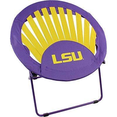 Jur_Global Louisiana State University Tigers NCAA Rising Sun Bungee Chair ()