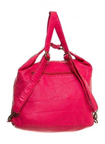 Convertible Purse - Both Backpack and Shoulder Bag in Soft Vegan Leather Dark Blue