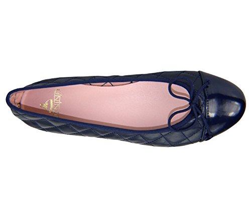 Étape De Fille Évite Les Femmes Ballerines Chaussures Plates Marine