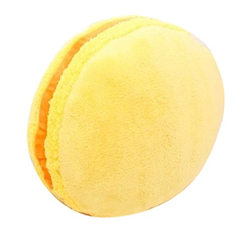 Creazy® Yummy Treats Buttercream Scented Macaroon Microbead Pillow (Yellow) ()