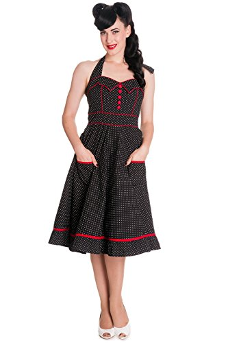 hell bunny blue polka dot dress - 4