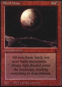 Magic  the Gathering - Blood Moon - Luna Insanguinata - The Dark