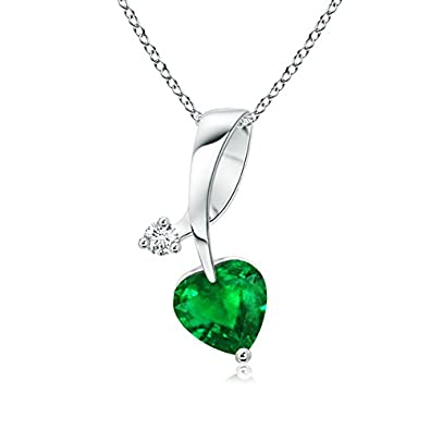 Angara Twisted Bale Emerald Necklace in Platinum d4lkA
