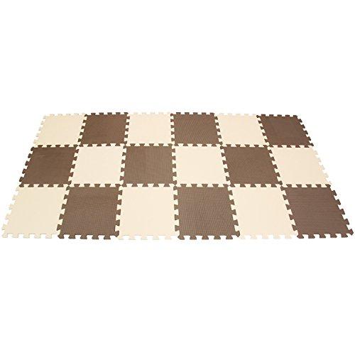 fdfc9ae56b Mqiaoham puzzle da pavimento 18 mattonelle a incastro colore caffe ...